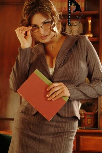 Chloe Vevrier Huge Boob Librarian 001