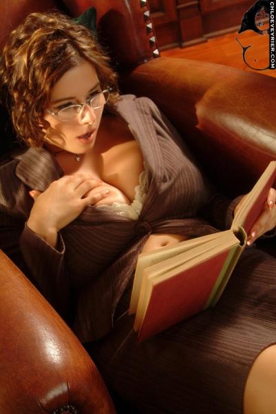 Chloe Vevrier Huge Boob Librarian 003