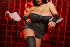 Chloe Vevrier Huge Breasts Grey Sparkly Stockings 001