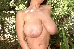 Chloe Vevrier Huge Breasts in the Jungle 009