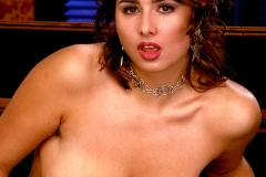 Chloe Vevrier Huge Tits Silver Dress and Stockings 011