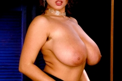 Chloe Vevrier Huge Tits Silver Dress and Stockings 015
