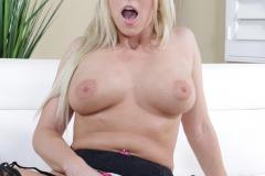 Christie Stevens Big Boobs Light Pink Dress 012