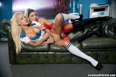 Cindy Behr and Lou Lou Big Tit Blonde Lesbian Dream 013