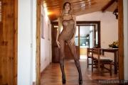 Claudia Big Tits Fishnet Bodystocking for Photodromm 001