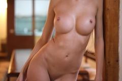 Claudia Big Tits Fishnet Bodystocking for Photodromm 007