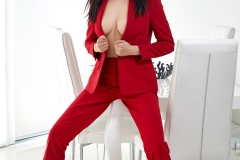 Clio Big Boobs Hot Sexy Red Suit 001