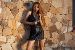Cruzlyn-Big-Boobs-Naked-in-Black-Leather-Minidress-for-Photodromm-002