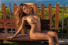 Cruzlyn-Big-Boobs-Naked-in-Silver-Sparkly-Minidress-on-a-Park-Bench-for-Photodromm-005