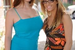Danielle and Leslie Big Boob Girls Kissing under the Tree for FTV Girls 001