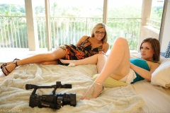 Danielle and Leslie Big Boob Girls Kissing under the Tree for FTV Girls 016
