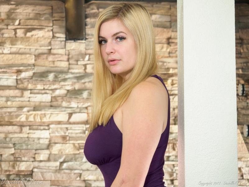 Danielle-FTV-Big-Tits-in-Slinky-Purple-Dress-014