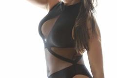 Danni Gibson Big Tits Tight Black Stretchy Lycra Body 008