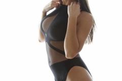Danni Gibson Big Tits Tight Black Stretchy Lycra Body 010