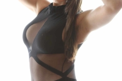 Danni Gibson Big Tits Tight Black Stretchy Lycra Body 012