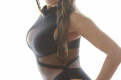 Danni Gibson Big Tits Tight Black Stretchy Lycra Body 013
