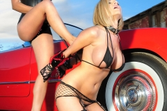 Denise Milani and Jenny P Huge Boobs and Cars for Actiongirls 033