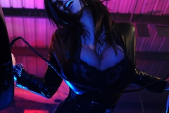 Denise Milani Huge Boobs in Black Leather for Actiongirls 004