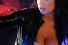 Denise Milani Huge Boobs in Black Leather for Actiongirls 010