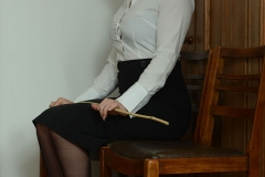 Deputy Headmistress Drogan Very Stern with a Cane 01