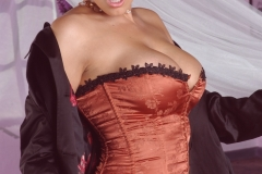 Dylan Rider Big Tits Bright Orange Corset 035