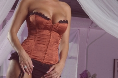 Dylan Rider Big Tits Bright Orange Corset 067