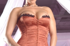 Dylan Rider Big Tits Bright Orange Corset 098