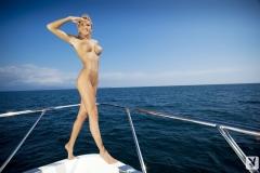Eliza Carson Big Tits Playboy Blonde on a Boat 0011
