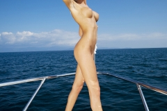 Eliza Carson Big Tits Playboy Blonde on a Boat 008