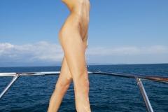 Eliza Carson Big Tits Playboy Blonde on a Boat 009