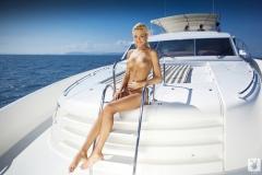 Eliza Carson Big Tits Playboy Blonde on a Boat 012
