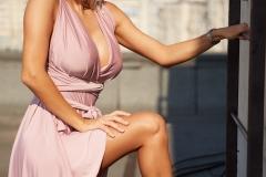 Eliza Miller Big Boobs in a Pink Dress 007