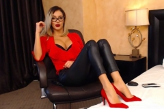 Eliza Miller Big Cleavage and Red Heels 001