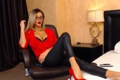 Eliza Miller Big Cleavage and Red Heels 008