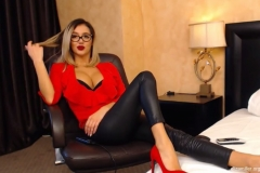Eliza Miller Big Cleavage and Red Heels 009
