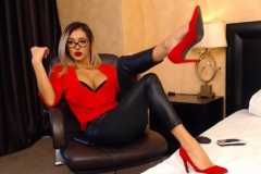 Eliza Miller Big Cleavage and Red Heels 017