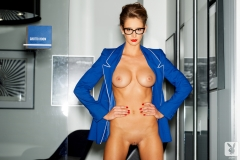 Emily Agnes Naked Big Boobs in a Blue Jacket 05