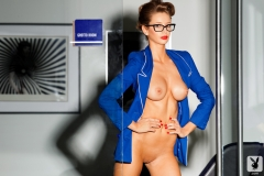 Emily Agnes Naked Big Boobs in a Blue Jacket 07