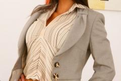 Emma Twigg Big Boob Secretary in Grey Suit 002