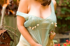 Erica Campbell Boobs hang with dress around waist 00