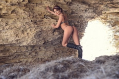 Erika Larson Big Boobs Bikini and Boots 002