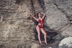 Erika Larson Big Boobs Bikini and Boots 012