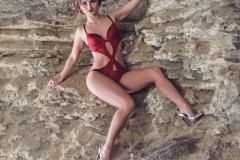 Erika Larson Big Boobs Bikini and Boots 015