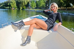 Erika Larson Big Tits and a Tight Little Dress on a Boat 001