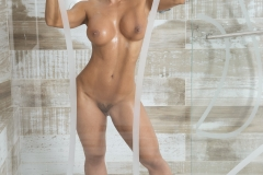 Esperanza Gomez Big Naked Boobs in the Shower 01