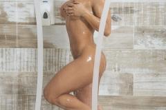 Esperanza Gomez Big Naked Boobs in the Shower 05