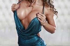 Esperanza Gomez Big Tits Spring from Blue Sparkly Minidress 002