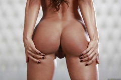 Esperanza Gomez Big Tits Spring from Blue Sparkly Minidress 012