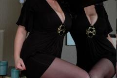 Eva Notty Huge Tits look Sexy in Black Minidress 010