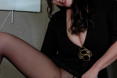 Eva Notty Huge Tits look Sexy in Black Minidress 033